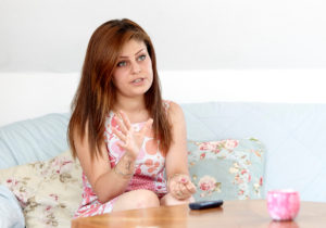 Syrische Studentin